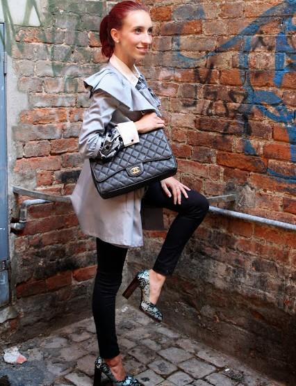 Un look elegante con scarpe di Gucci