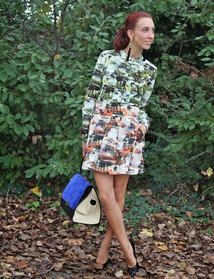 Total look MSGM con borsa Céline Trapeze