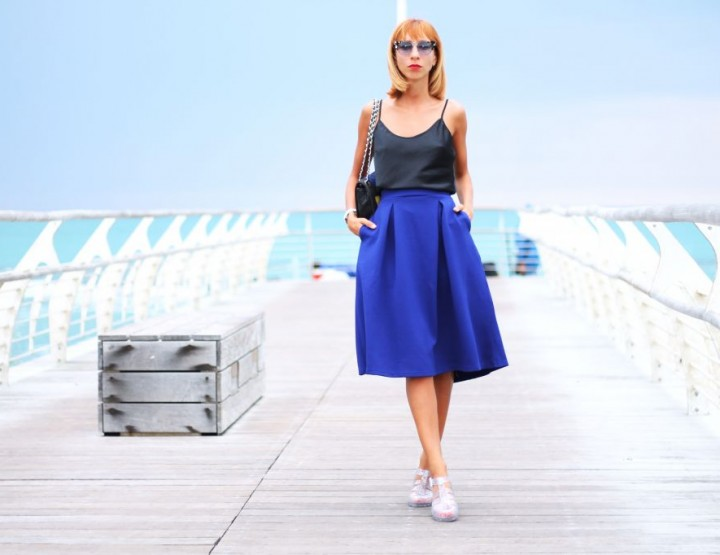BLUE SKIRT LIKE THIS