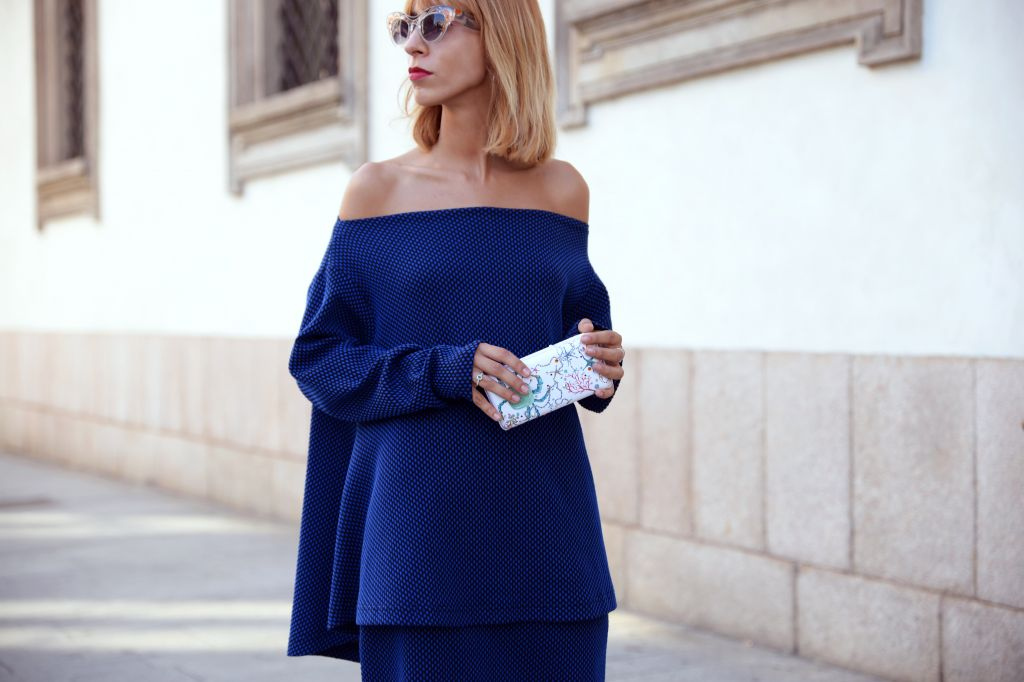 lady in blue