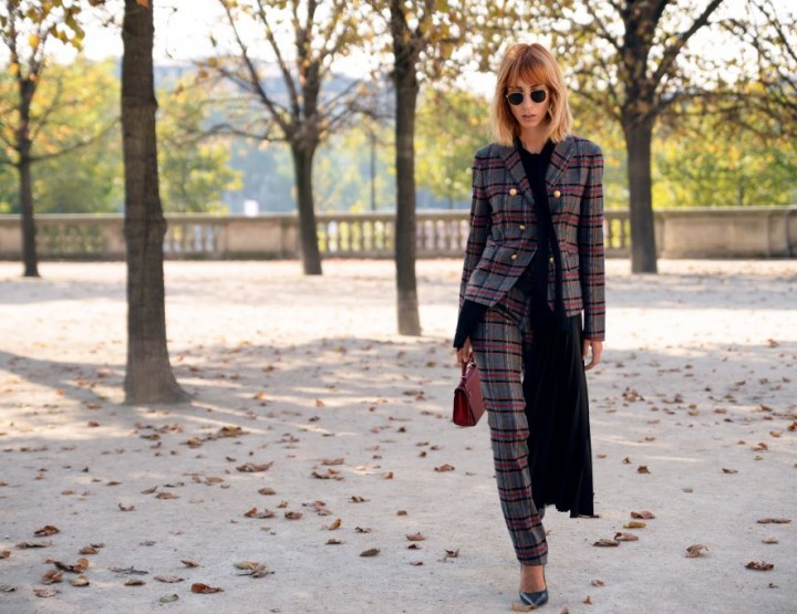PLAID SUITS: PFW DAY 1