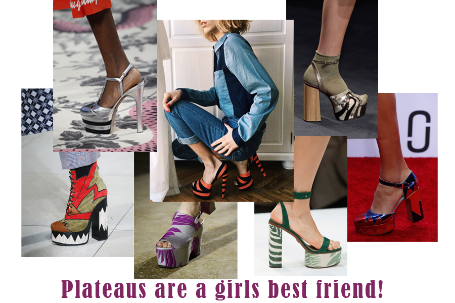 FOR THIS SPRING-SUMMER 2016 HEELS WITH PLATEAU ARE BACK