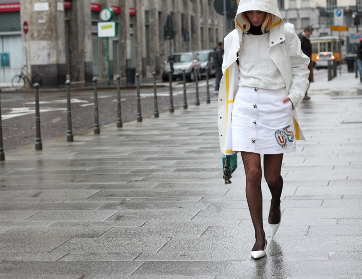 HOW TO BE IMPECCABLE IN THE RAIN AS WELL: FISHNET TREND FOR GARMENTS AND ACCESSORIES